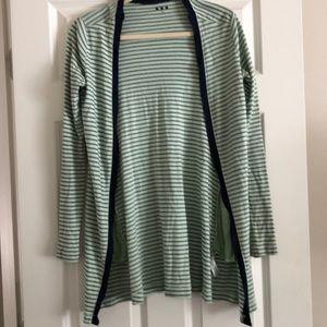 Cotton striped cardigan,